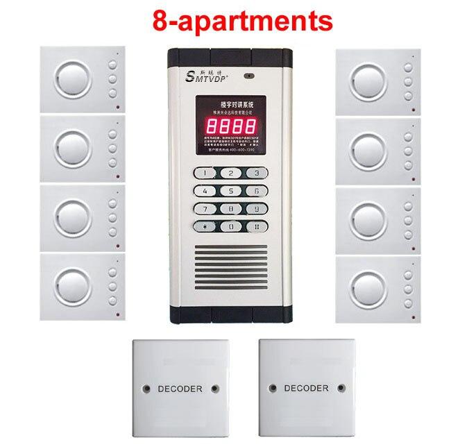 Passwort Entsperren Xinsilu Home Security Nicht-visuelle Gebäude Intercom System Für 8-wohnungen Hand-free Audio Tür Telefon