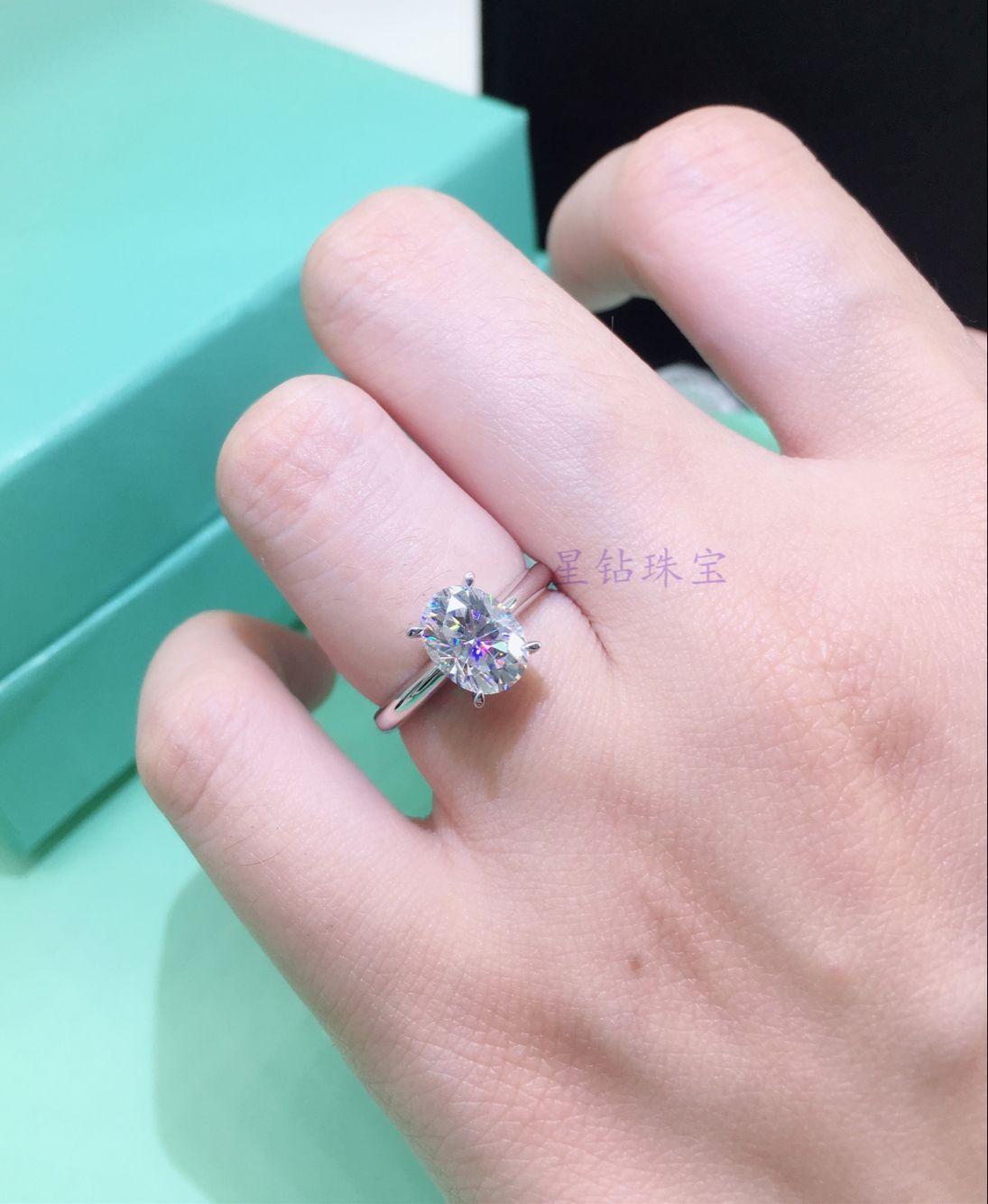 Newshe 2Pcs Wedding Ring Sets Classic Jewelry 1.9Ct AAA CZ Genuine ...