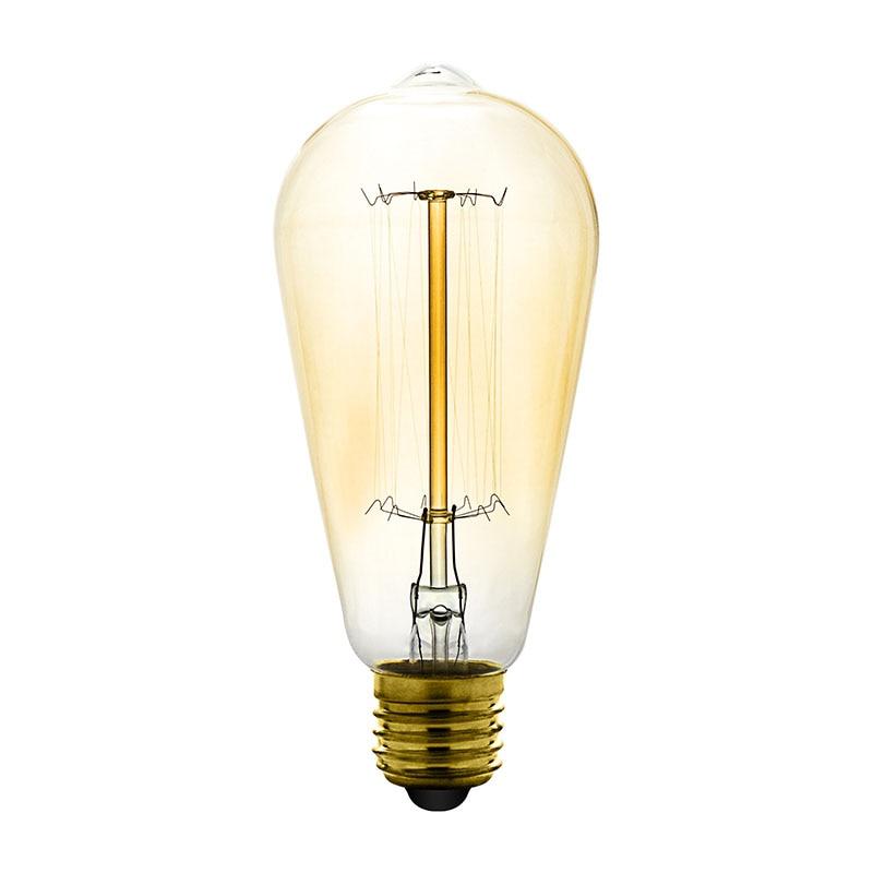 Vintage Edison Bulbs E27 220V Incandescent Bulbs 25W 40W 60W ST64 Filament Bulb Retro Edison Light For Pendant Lamp