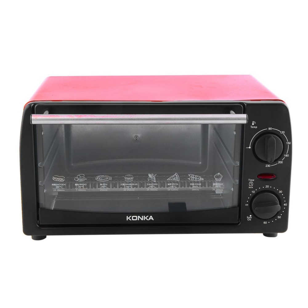 Electric Oven Household Multifunctional 12L Mini Galvanized Sheet Baking Oven KAO-1208 1050W With Bakeware цена