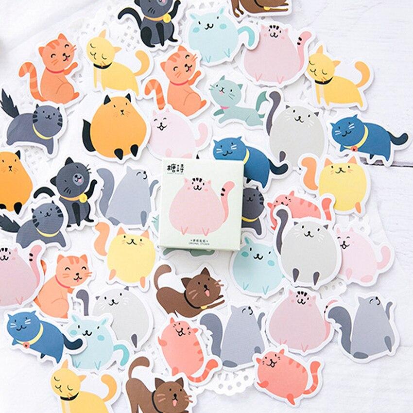 Купить с кэшбэком 45pcs/pack Kawaii Cute Cartoon Stickers DIY Diary Notebook Album Scrapbooking Stickers Office School Supply 14 Styles Can Choose