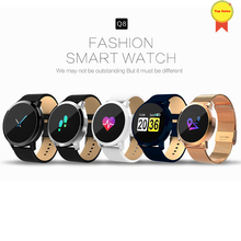 Q8 Smart Watch OLED Color Screen Electronics Smartwatch Fitness Tracker Heart Rate Bluetoothwatch Men Women fo ios android