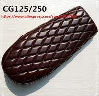cg125/250 Vintage Motorcycle browm Cushion Cafe Racer Refit motorcycle seat diamond mesh cushion For CG125/250