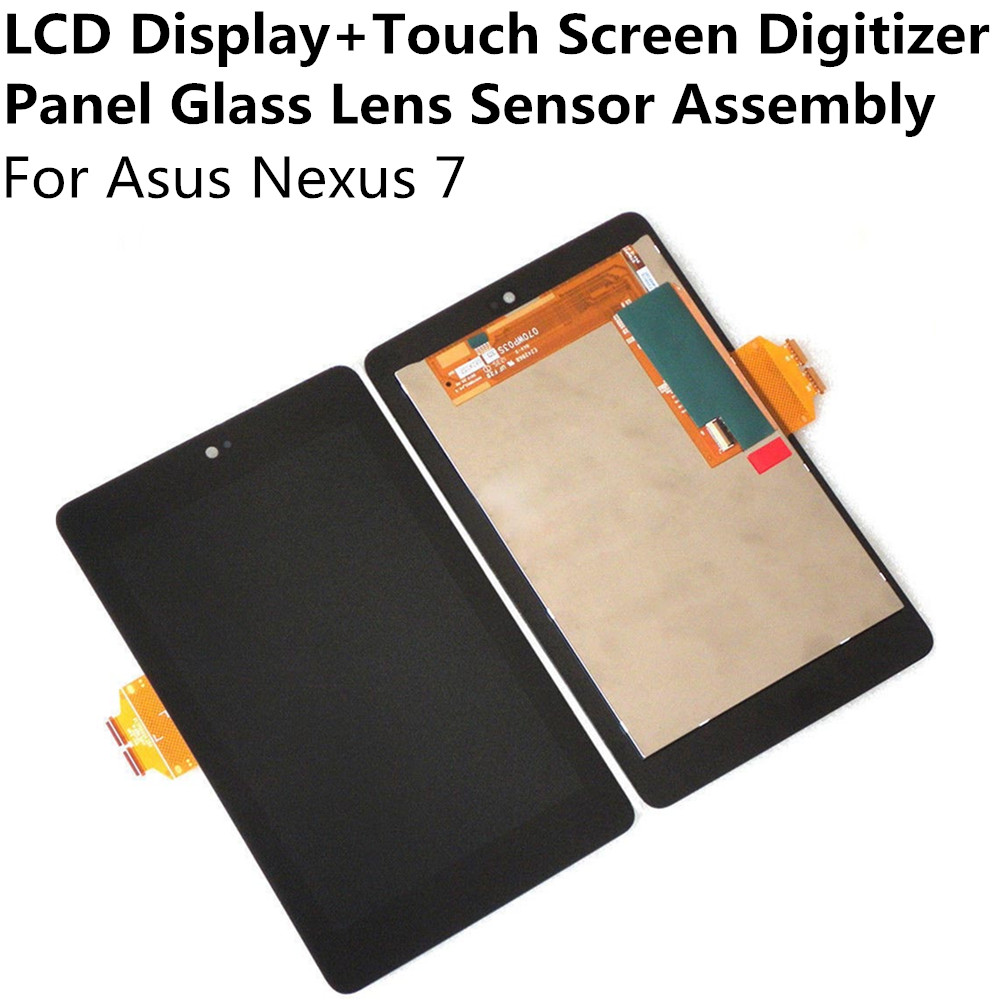 New LCD Display + Touch Screen Digitizer Panel Glass Lens Sensor Assembly For Asus Nexus 7 Replacement Repair Part FreeShipping touch screen glass panel for mt508tv 5wv repair new