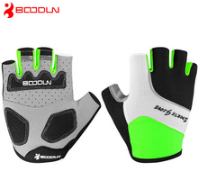 Boodun Men women mountain Summer Half Finger MTB Bicycles font b gloves b font ciclismo racing