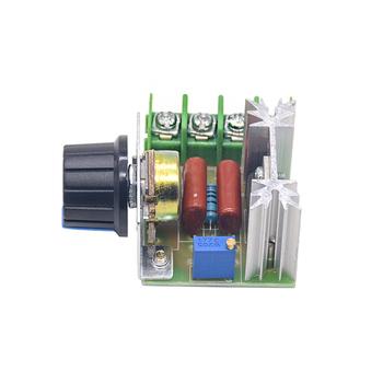 AC 220V 2000W SCR Regulator napięcia ściemniacze ściemniacze Regulator prędkości silnika termostat elektroniczny Regulator napięcia moduł tanie i dobre opinie Jednofazowy other
