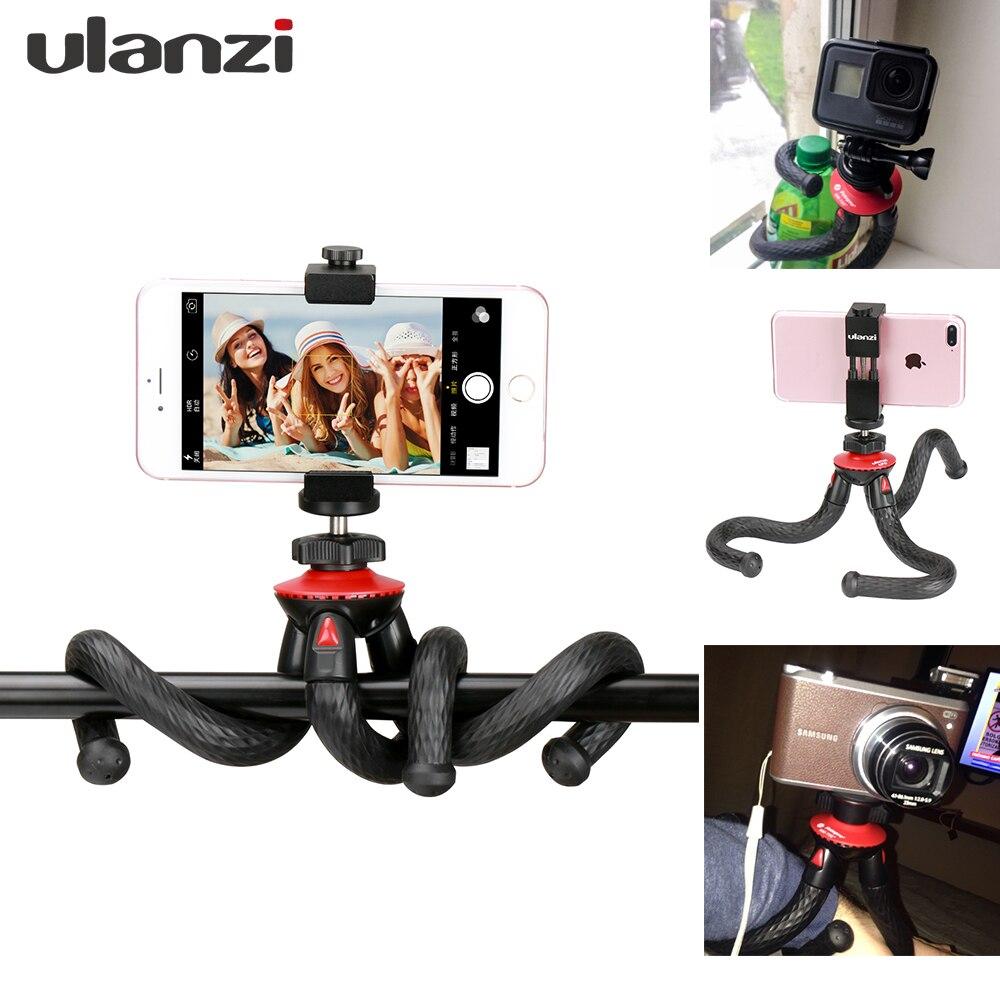Ulanzi Octopus Flexible Mini Tripod Monopod with Ball head Phone Tripod Mount Adapter for iPhone X Gopro 6 Nikon Canon Camera