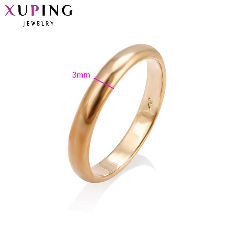 Xuping خاتم فخم تصميم شعبية خاتم حلية نمط للنساء لون الذهب مطلي مجوهرات عيد الميلاد 10938