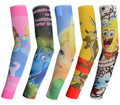 New kids cool Cartoon driving sunscreen Child arm sleeve cycling temporary flash tattoo Stretchy scorpion fake tattoo sleeves