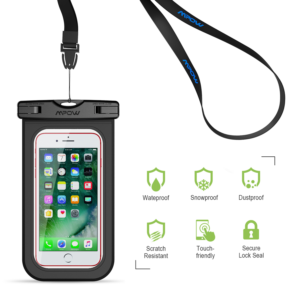 a75d50db3801af Original Mpow 2PCS IPX8 Waterproof Case 6'' Universal Phone Dry Bag  Swimming Diving Pouch Cover for iPhone 7 Plus etc Cellphones-in Phone Pouch  from ...