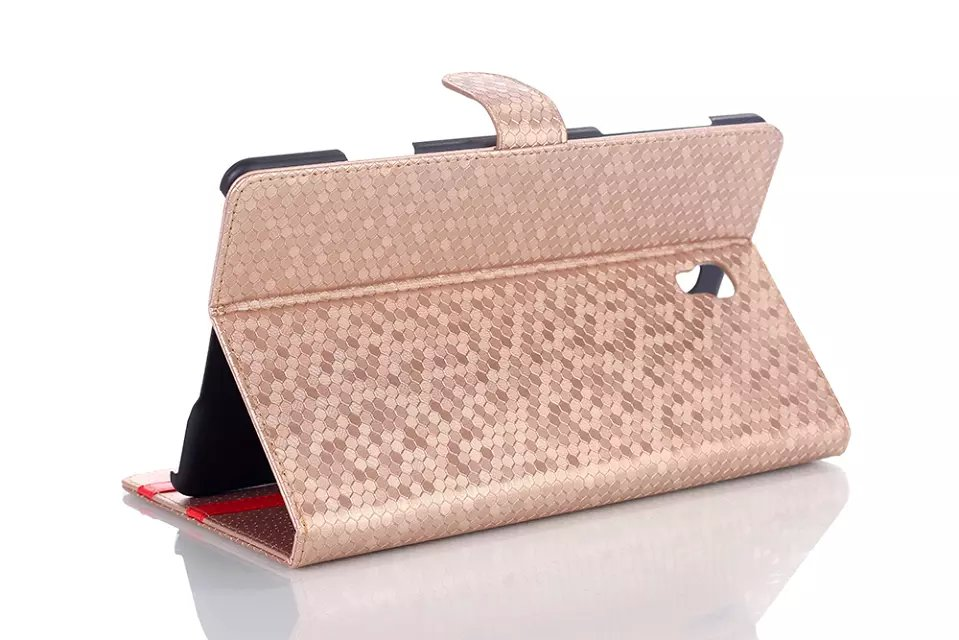 Fashion Diamond Grain Stand PU Leather Holder Cover Shell Protective Case For Samsung Galaxy Tab S 8.4 T700 T701 T705 T705C