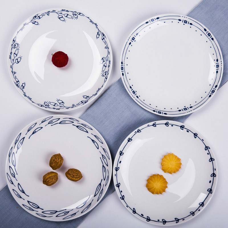 Western Salad Dishes: Aliexpress.com : Buy 8 Inches Round Bone China Tableware