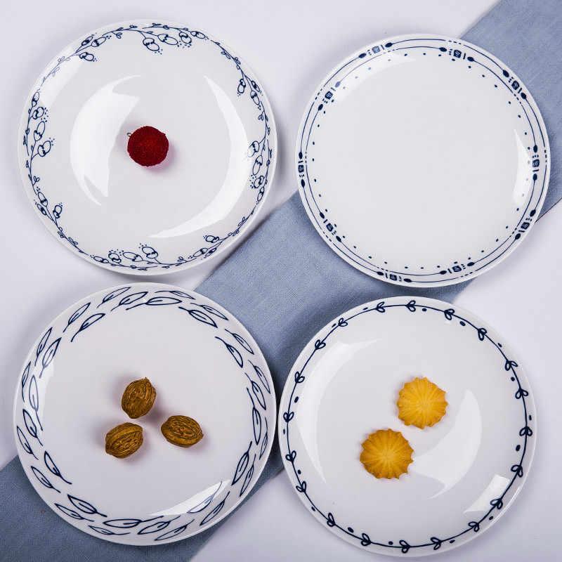 8 inches עגול עצם סין כלי שולחן מערבי מזון בשר עוגת קינוח סושי סלט צלחת פורצלן צלחת צלחות