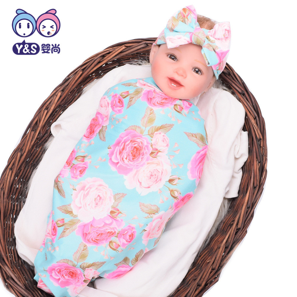 Wisbibi 2pcs / set! Pasgeboren Mode Baby Inbakeren Deken Baby Slapen - Beddegoed - Foto 3