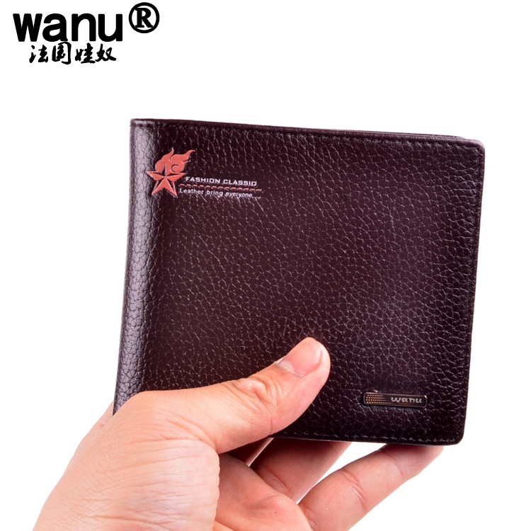 Streetwear épaule avec étui portefeuille en cuir véritable - Noir, Taille Unique