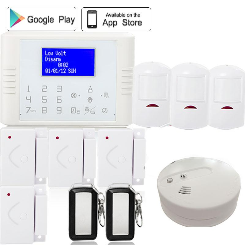 Polish/Spanish 433mhz Wireless quad band SIM card GSM+PSTN telephone Alarm System kit Home Security with heat&smoke sensor ламинат pergo plank дуб темный планка 33 класс