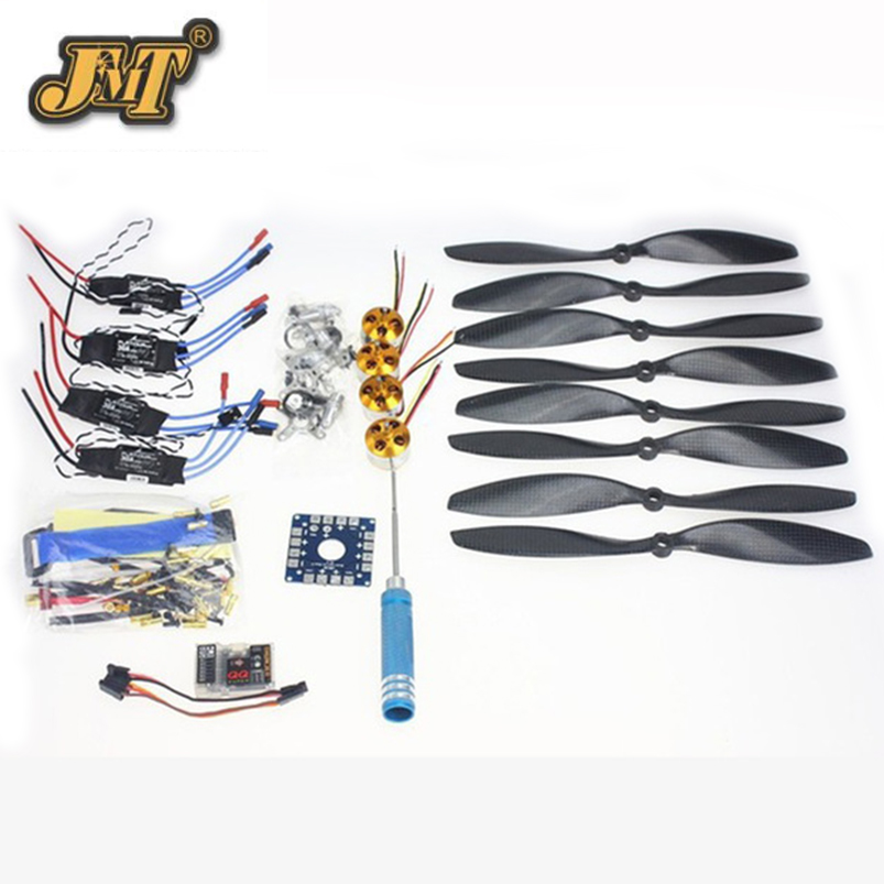 JMT 4 Axis Foldable Rack RC Quadcopter Kit with QQ Super Flight Control+1000KV Brushless Motor + 10x4.7 Propeller + 30A ESC jmt 4 axis foldable rack rc quadcopter kit with kk v2 3 circuit board 1000kv brushless motor 10x4 7 propeller 30a esc