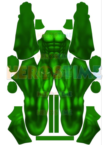 3D Print High Quality Lycra Classic Hulk Green Muscle Shade Printed Suit No Mask Zentai Spandex Muscle Cosplay Costume