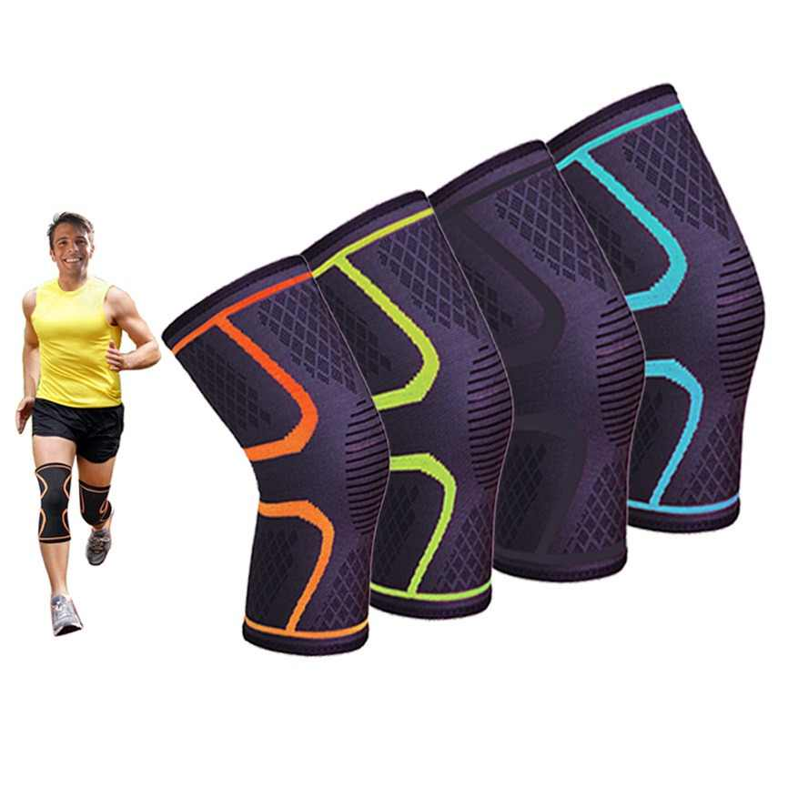 CAMEWIN 1 PCS Knee Pads for Basketball Badminton Running Hiking et all High Elasticity Breathable Knee Protector Knee Support