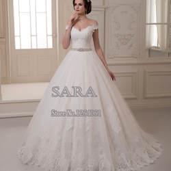 ff89e10ef98 Очаровательная платье-линии кружева свадебные платья Cap рукавом на заказ  v-образным вырезом кружева