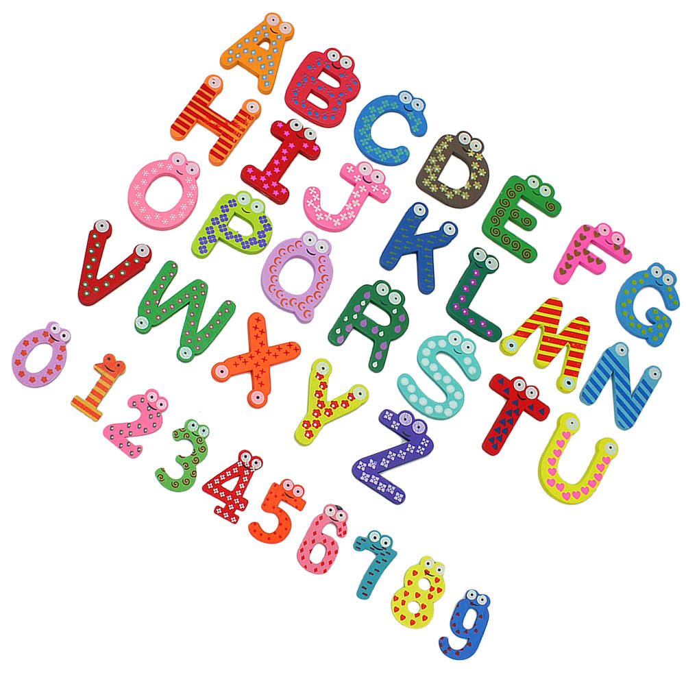 magnetic alphabet letters for fridge 36x colorful design wooden letters numbers 23528