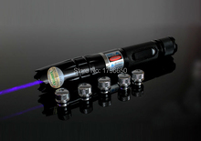 high powered blue laser pointers 300000mw 300w 450nm burning match/dry wood/candle/black/cigarettes+5 caps+glasses+charger+box