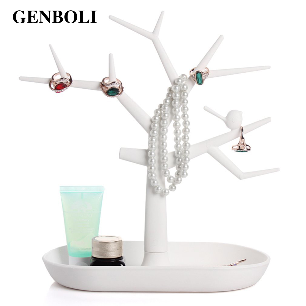 GENBOLI Tree Branch Jewelry Displays Packaging For Ring Earrings Bracelet Necklaces Organizer Makeup Stand Key Holder
