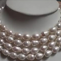Fashion style 7 10mm AAA freshwater pearl beads making necklace jewelry YE2098