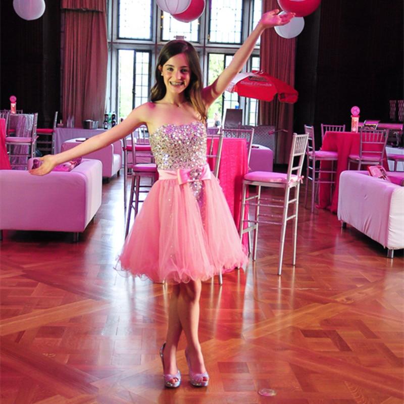Con cuentas vestido mitzvá Bat rosa con el arco sin tirantes chicas ...