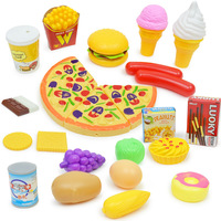 32 Pcs Children Kids Kitchen Pizza Party Fast Food Slices Cutting Pretend Play Food Toy