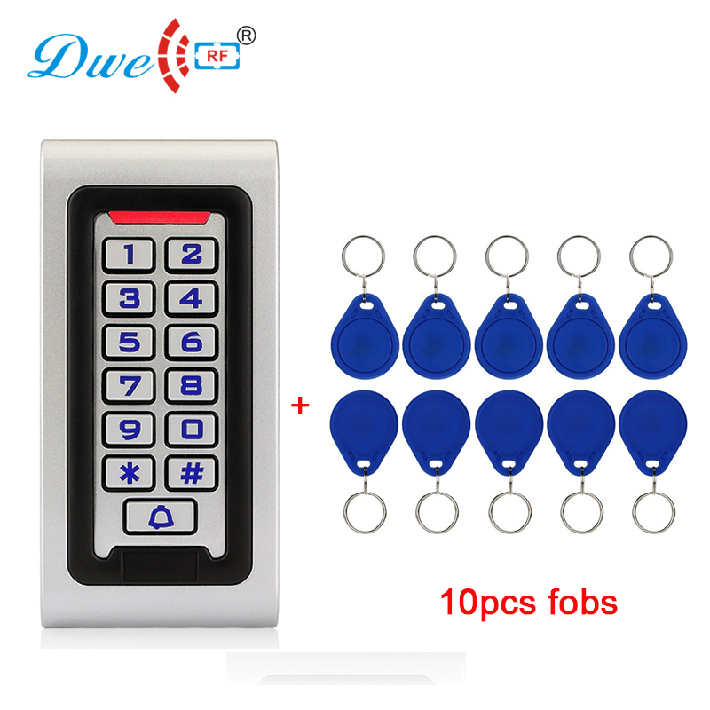 DWE CC RF access control card reader backlight keypad rfid 125khz reader metal housing mounted wall reader original access control card reader without keypad smart card reader 125khz rfid card reader door access reader manufacture