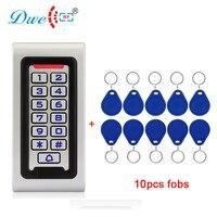 DWE CC RF access control card reader backlight keypad rfid 125khz reader metal housing mounted wall reader
