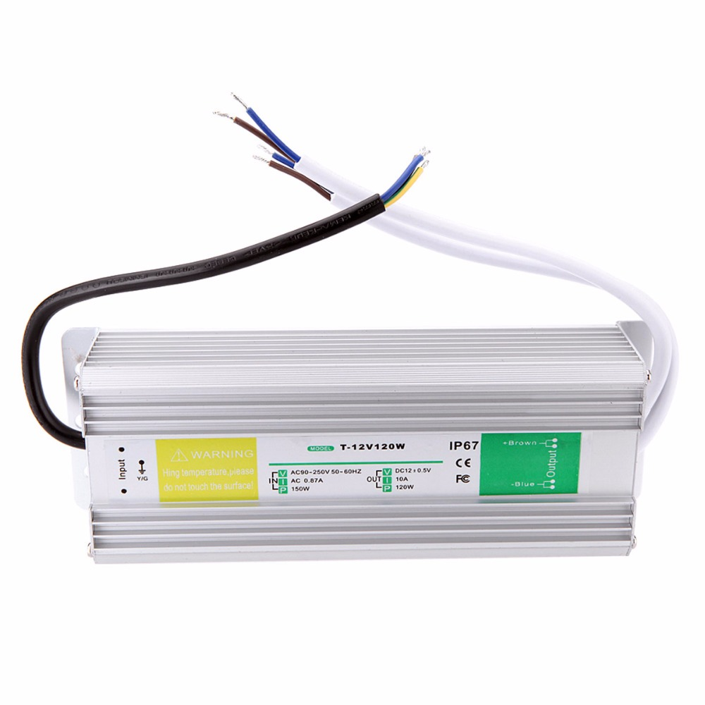 IP67 12V 10A 120W Ac to Dc Switching Power Supply Outdoor Used Led Strip Waterproof Driver led driver transformer waterproof switching power supply adapter ac170 260v to dc48v 200w waterproof outdoor ip67 led strip