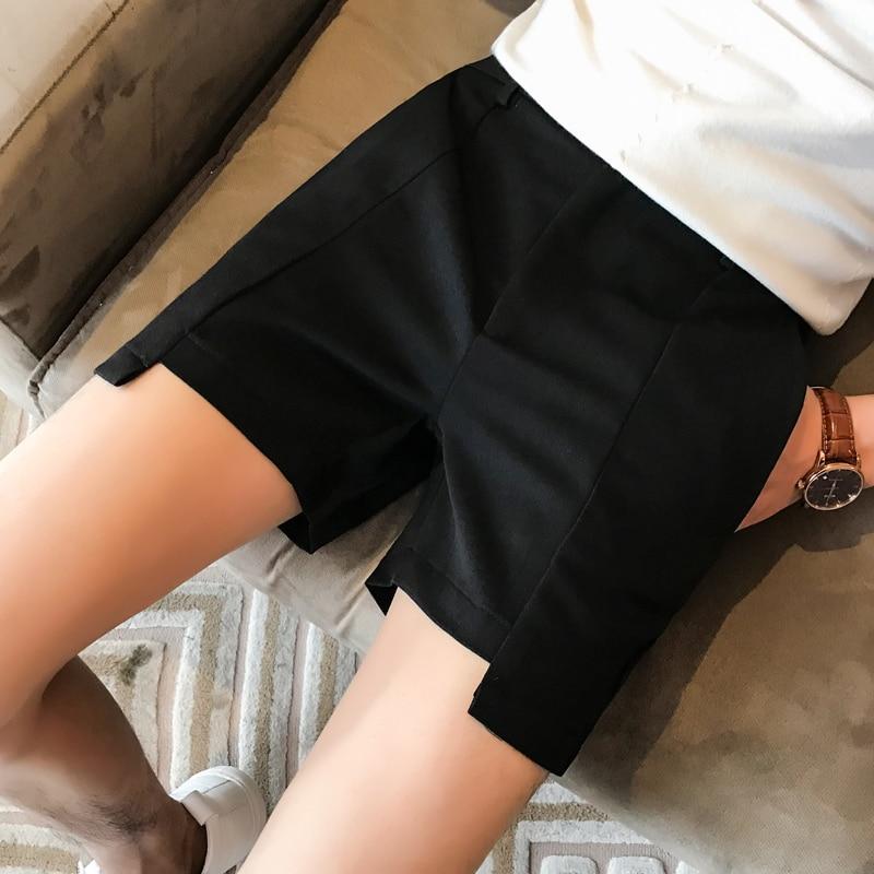 4 Colors Solid Men Shorts Black Grey Khaki Green Shortshombre Casual 2018 Mens Summer Shorts Casual Beach Slim Fit Shorts