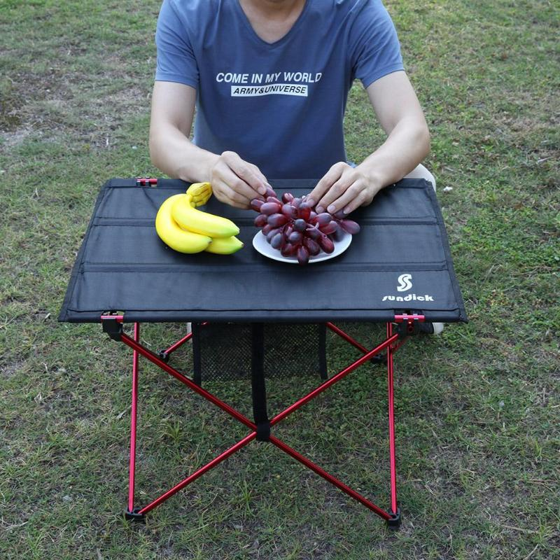 Portable Foldable Table Folding Camping Picnic Desk For Traveling Outdoor Aluminium Alloy Table Barbecue Tourist Table