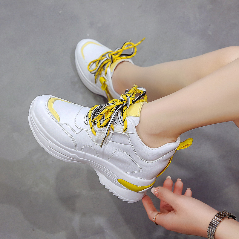 Rubber Wedges Shoes for Women Casual Shoes Comfortable Platform Sneakers Women Vulcanized Shoes Spring and Autumn Women Shoes 36