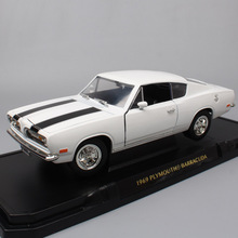 1:18 scales classic 1969 Chrysler Plymouth Barracude sport muscle Diecast Toy & Vehicles auto miniature cars models for children