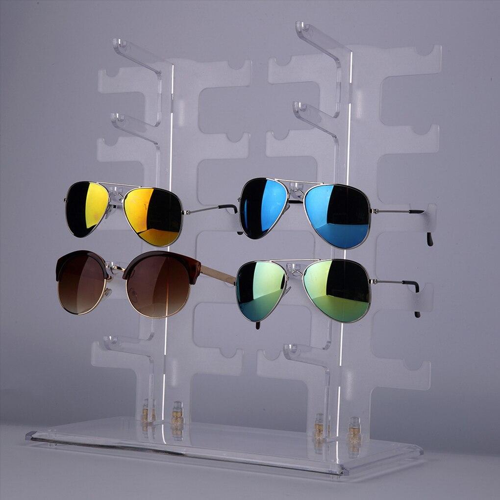 2 Reihe 10 Pairs Sonnenbrille Brille Rack Halter Sonnenbrille Rahmen ...