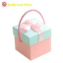 Custom big jewelry packaging tin box with window jewelry tin packaging box / chinese tea set gift box / big round gift box