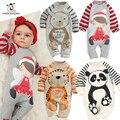 Resorte de la Ropa de Bebé recién nacido de Manga Larga Mamelucos del bebé del Algodón Muchachas de la Historieta Ropa roupas de bebe infantil Niños trajes