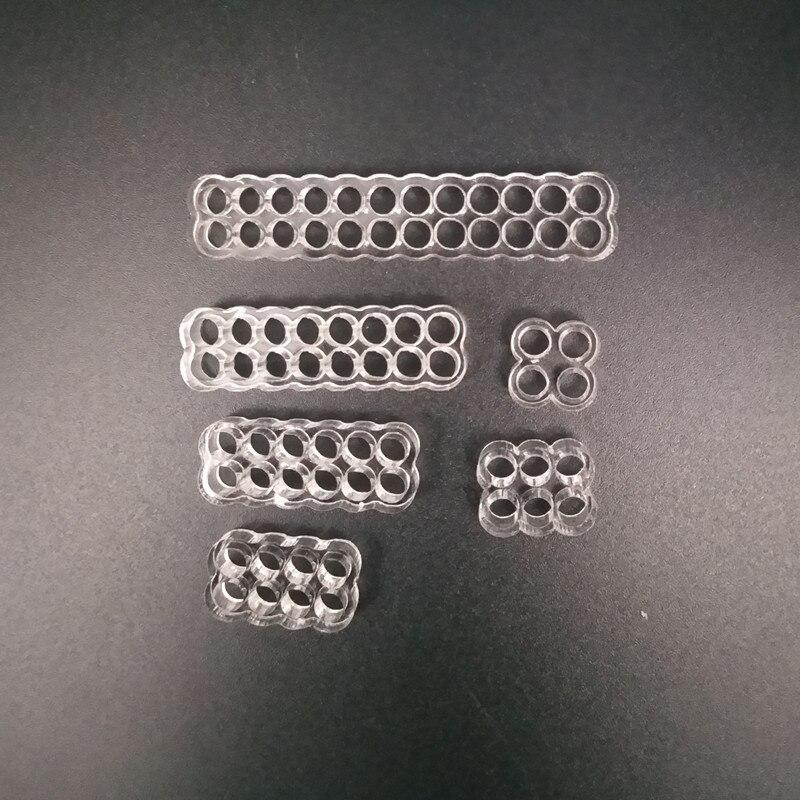 Wysokiej jakości okrągłe akrylowe grzebienie kablowe do drutu 18AWG pojedynczy rękaw