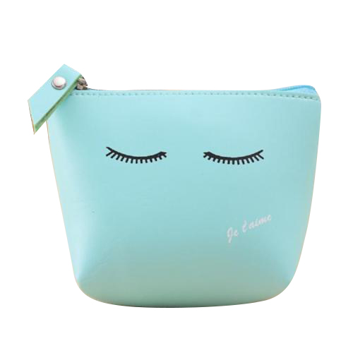 ASDS Women Girls Cute Zip Leather Coin Purse Wallet Bag Change Pouch Key Card Holder, Blue Wink 2017 new fashion design women cute pu leather change purse wallet bag girls coin card money pouch portable purse small bag jan12
