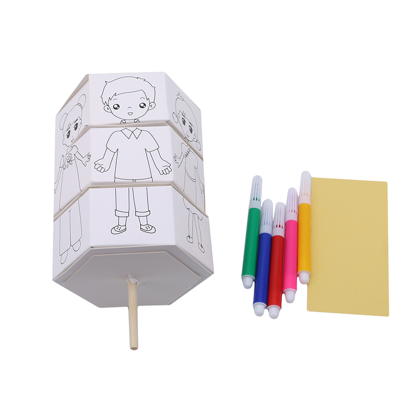 Kids Rotary DIY Paper Color Matching Graffiti Change Clothes Doll Creative Handcraft Puzzle Kindergarten Craft Toys For Children(China)