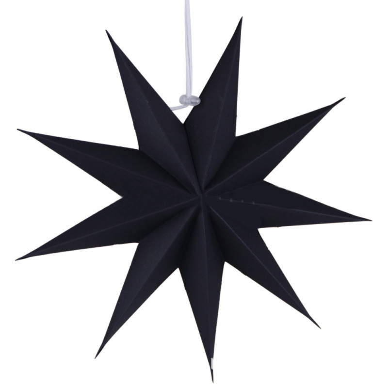 Hot 3D Nine-pointed Paper Star Decoration Light Lamp Shade Paper Star Lantern With Cord Wedding Birthday Party