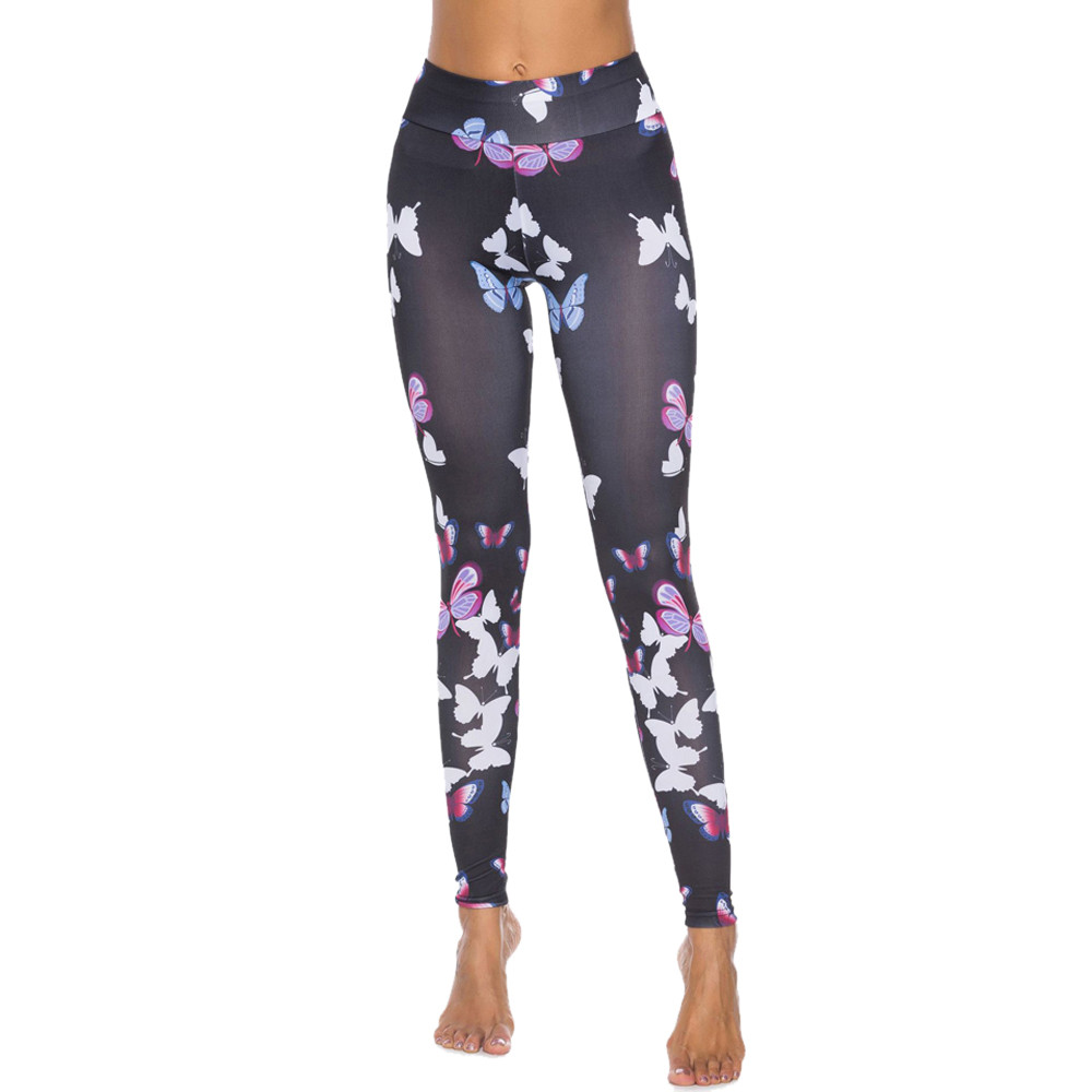 e9dfd1d563 2019 FishSunDay Women Butterfly Workout Leggings Fitness Sports Gym ...