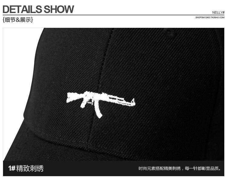 Top Selling Uzi Gun Baseball Cap US Fashion 2017 Ak47 Snapback Hip Hop Cap  Curve Visor 6 Panel Hat Casquette De Marque f31ee4d74c75