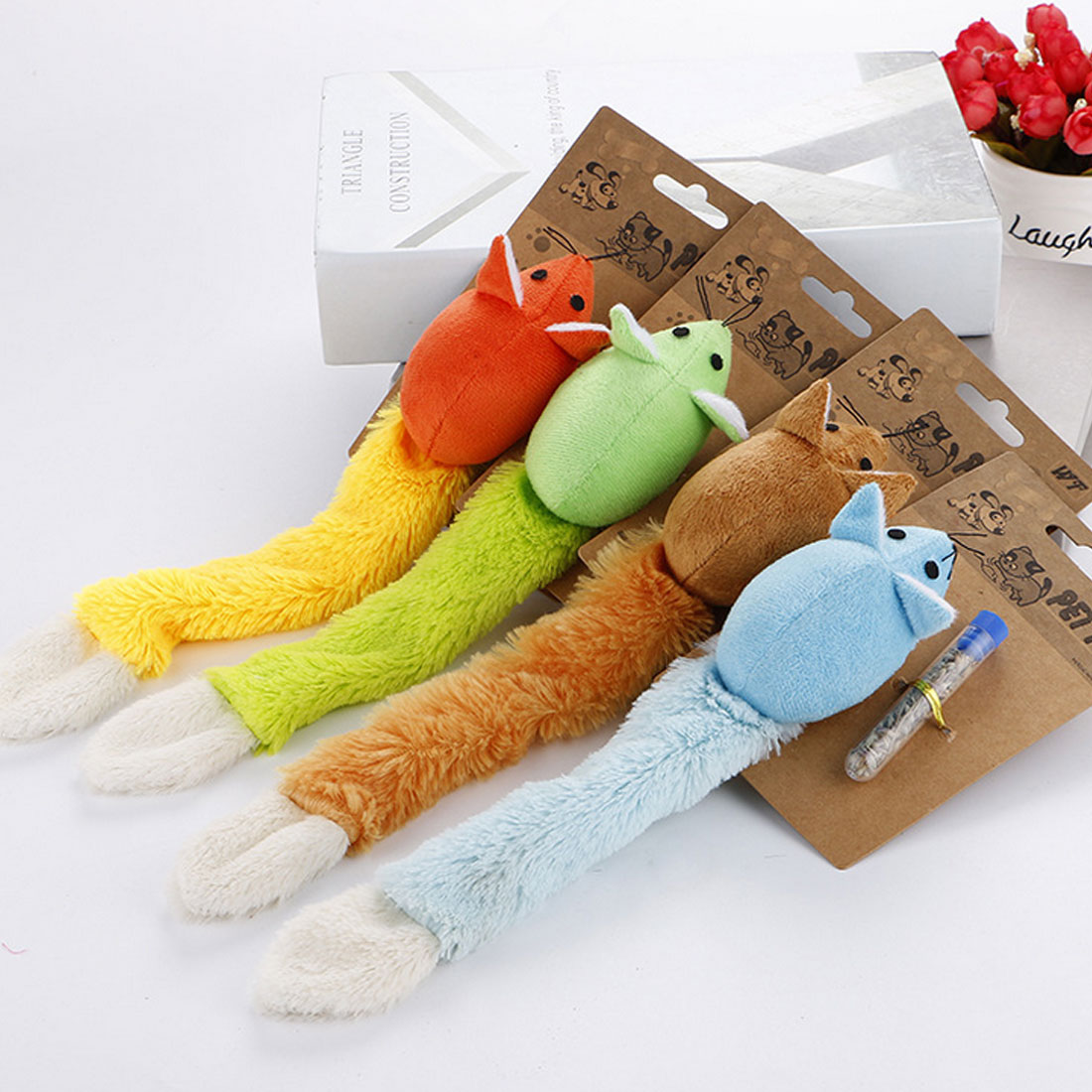 Hot Sale 1pcs Cat Toy Long Tail Mouse Teaster Funny Pet Toys Trainning Playing Interactive With Catnip