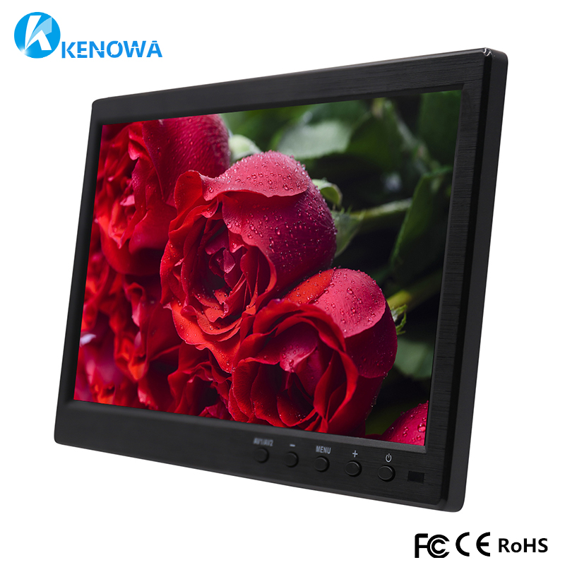 1920*1200 IPS 10.1 LCD HD Monitor Computer PC Display Color Screen 2 Channel Video In Security Monitor With Speaker HDMI VGA USB