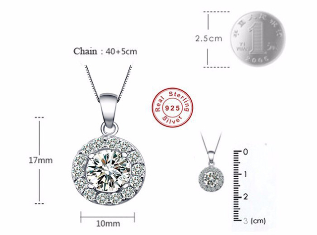 Promotion Genuine 925 Sterling Silver Jewelry Sets Silver CZ Diamant Ring Necklace Earrings Bridal Wedding Jewelry Sets TZ001