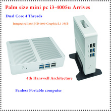 HRF Freeshipping Intel Core i3-4005u/4010u Mini PC windows7/8 Windows 10 совместимость Minipc 1080 P HD HTPC ТВ коробка